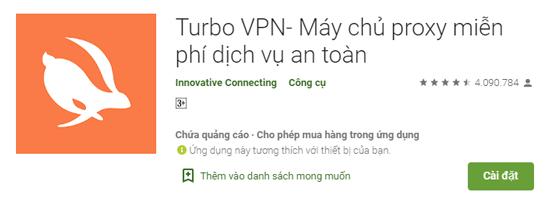 Ứng dụng VPN hỗ trợ internet