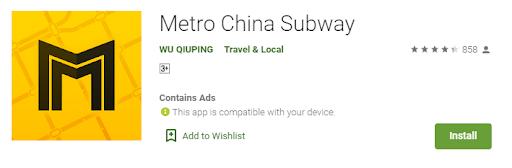 Ứng dụng tìm tàu điện ngầm