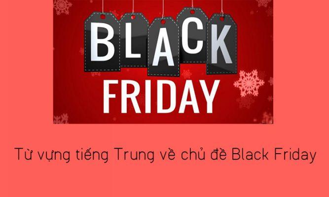 Từ vựng tiếng Trung về Black Friday