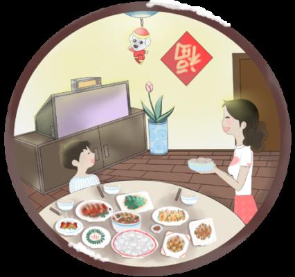 Cơm tất niên ở Trung Quốc