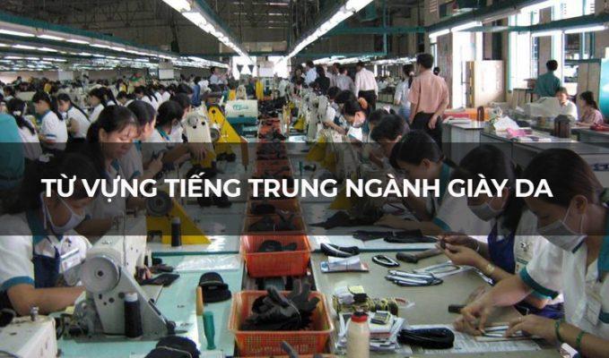 Từ vựng tiếng Trung ngành giày da