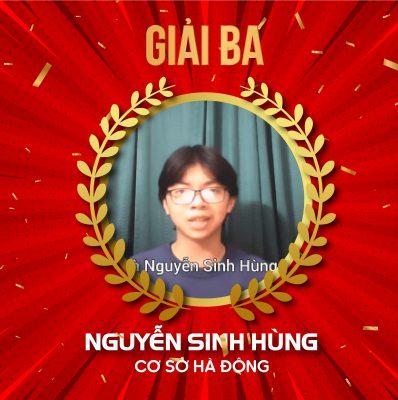 Học viên Nguyễn Sinh Hùng