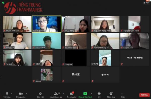 Học tiếng Trung trực tuyến trên Ứng dụng Google Meet