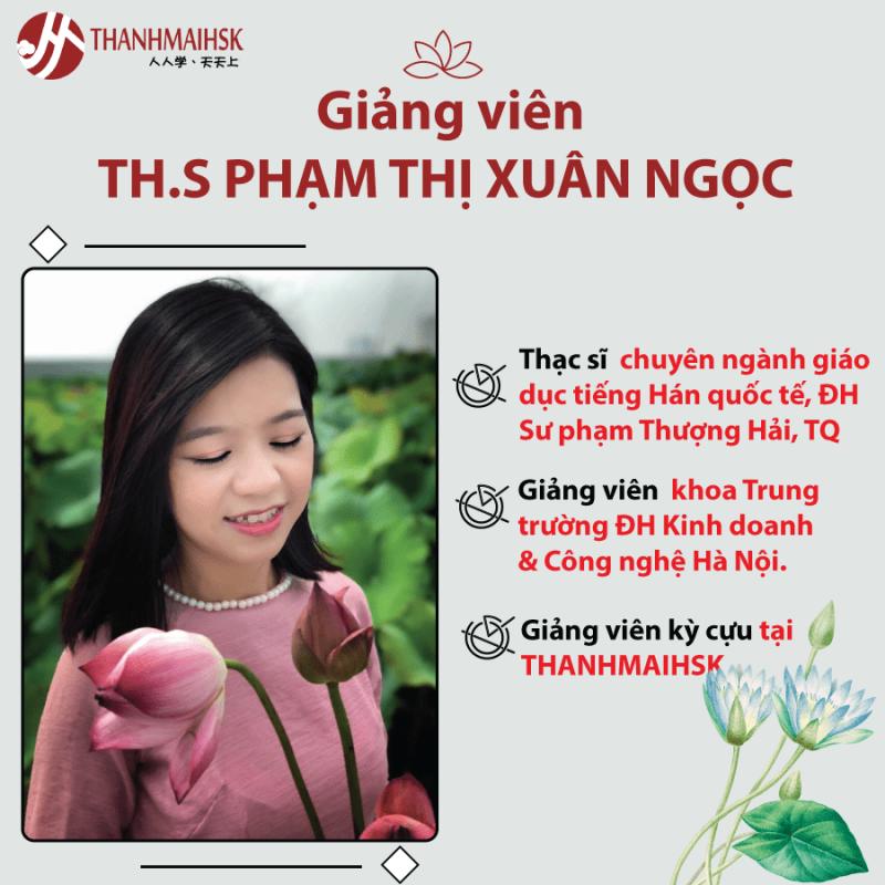 Giảng viên TH.S Phạm Thị Xuân Ngọc